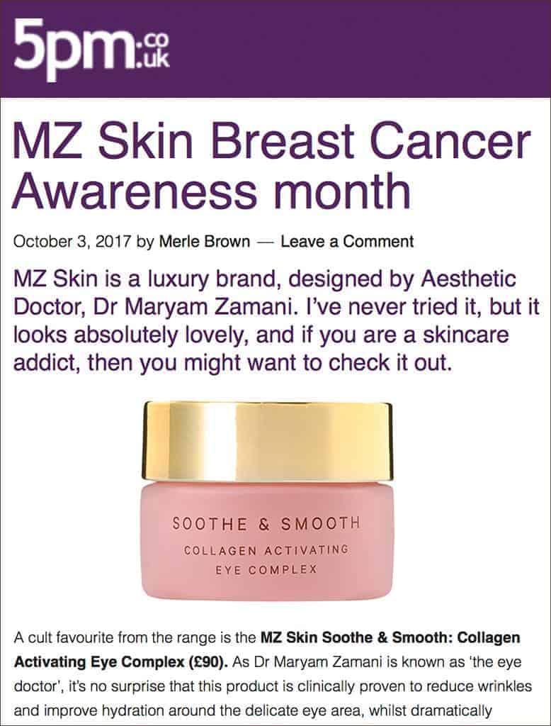 MZ Skin Featured On 5pm Magazine