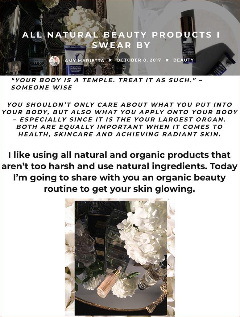 MZ Skin Featured On Amymarietta