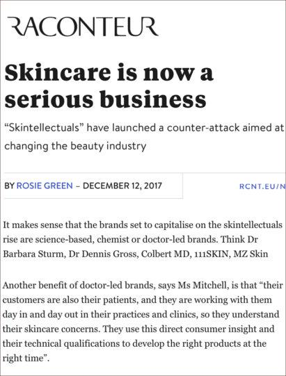 MZ Skin Featured on Raconteur