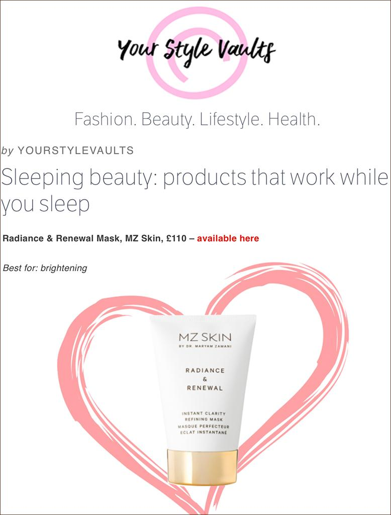 MZ Skin Featured On Your Style Vaults