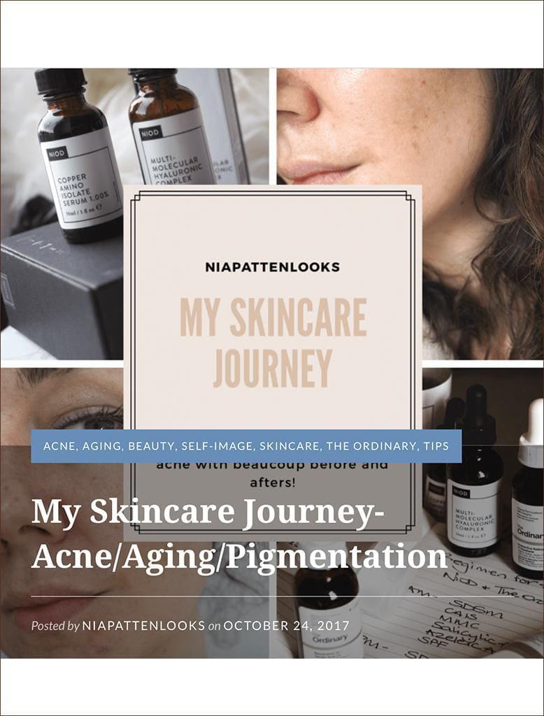 MZ Skin Featured On Beautyblogwales