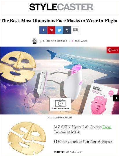 MZ Skin Golden Facial Treatment Mask featured on Stylecaster