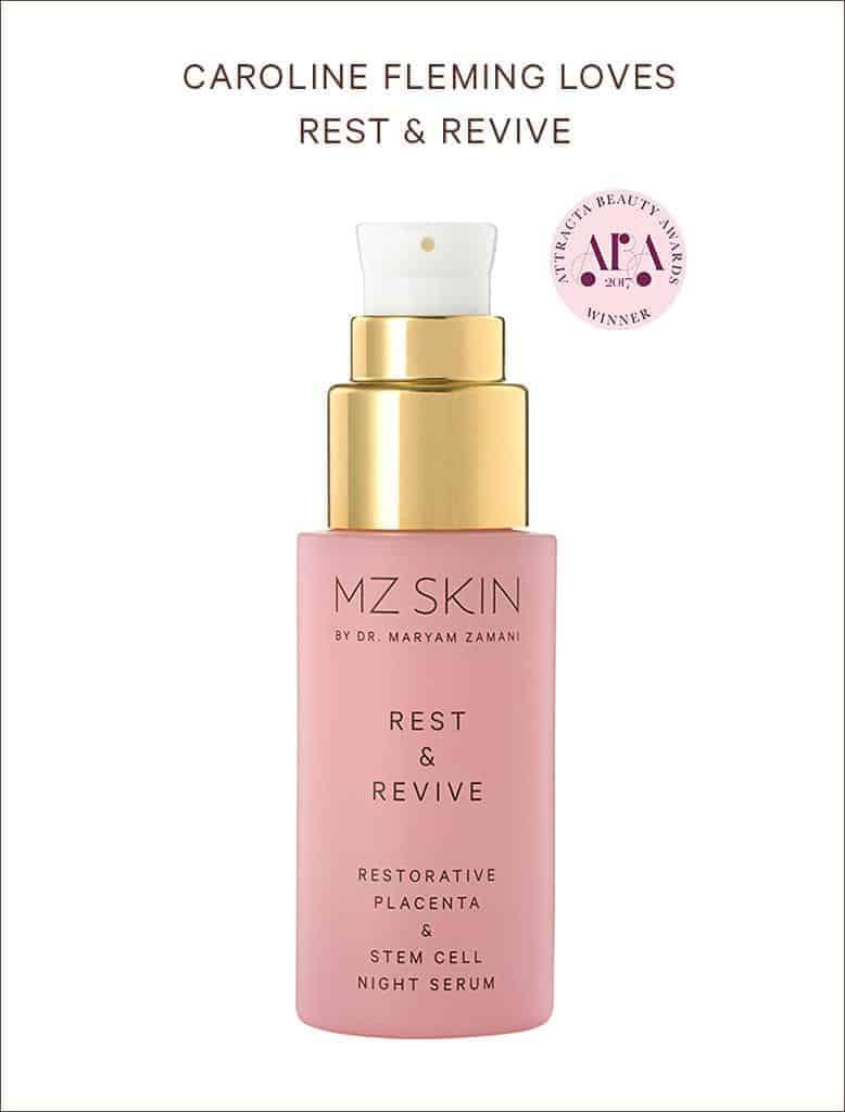 Caroline Fleming loves MZ Skin Rest & Revive for her complexion