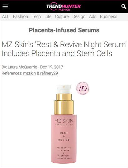 MZ Skin Rest & Revive Featured on Trendhunter