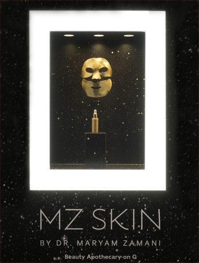 Harrods Window Featured MZ Skin Hydra-Lift Golden Facial Treatment Mask