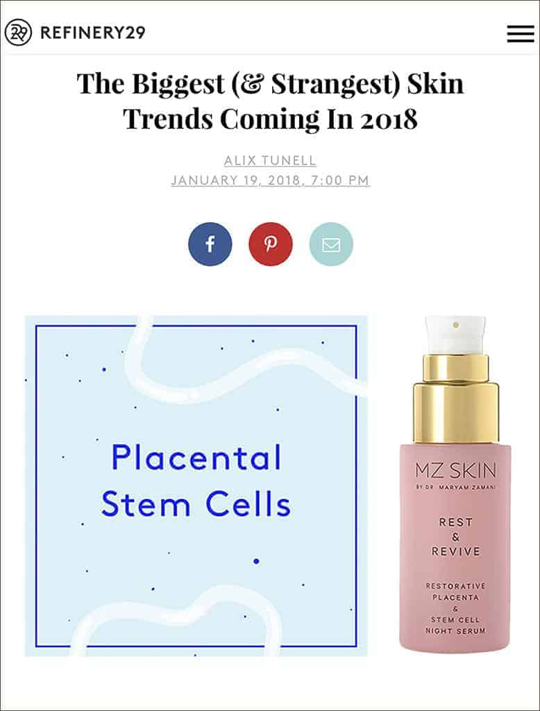 Refinery29 Features MZ Skin