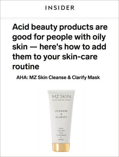 This Is Insider featured MZ Skin Cleanse and Clarify for acne-prone skin