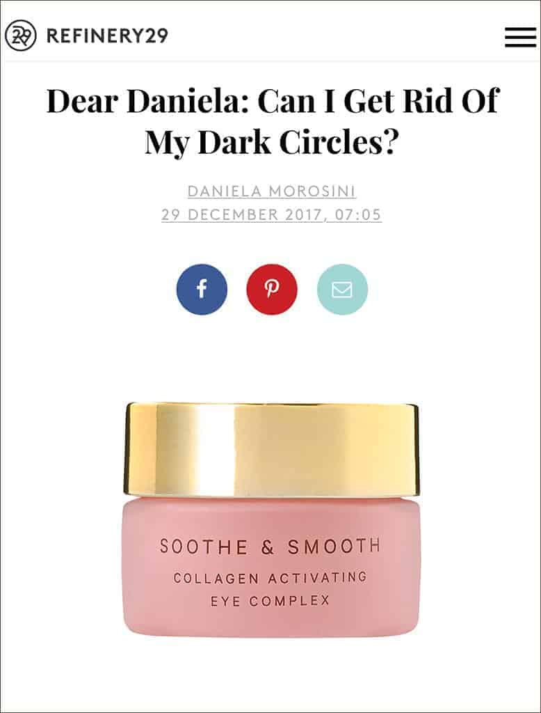 MZ Skin Soothe & Smooth Featured on Refinery29