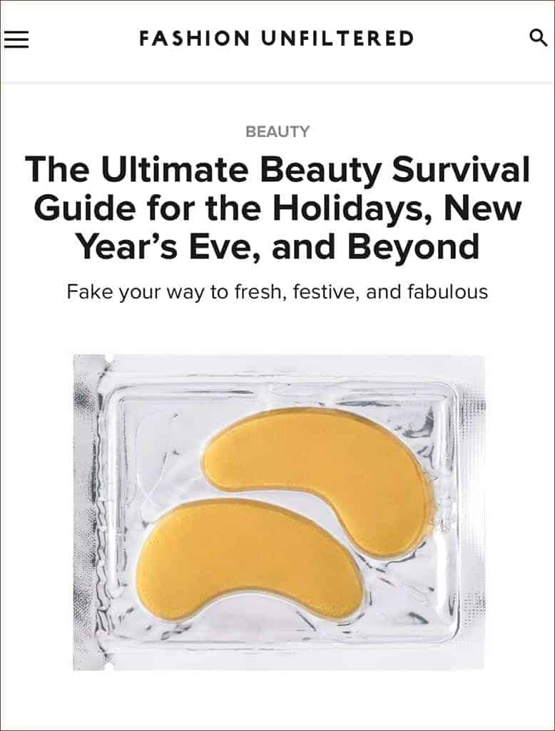 Fashion Unfiltered Features Hydra-Bright Golden Eye Treatment Masks