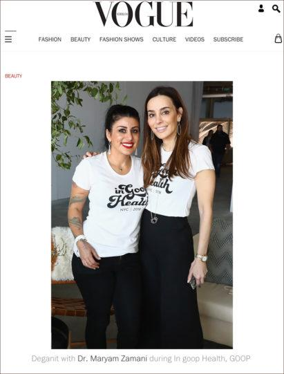 Vogue Netherlands featured Dr. Maryam Zamani at In Goop Health