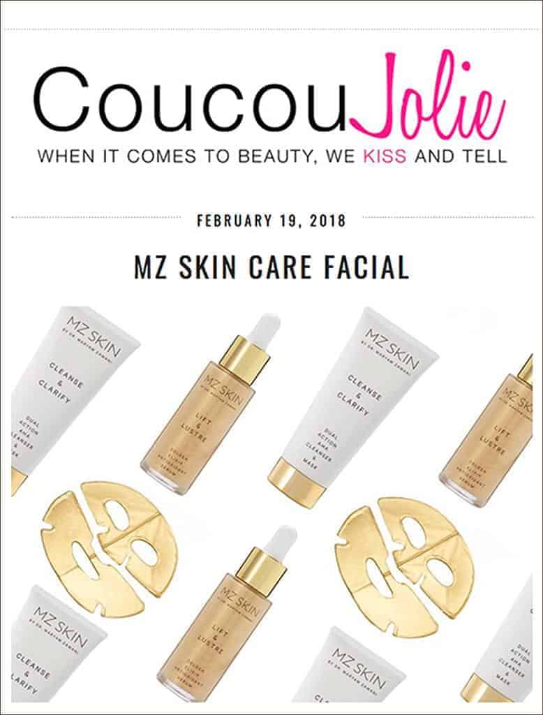 CoucouJolie experience with MZ Skin Facial