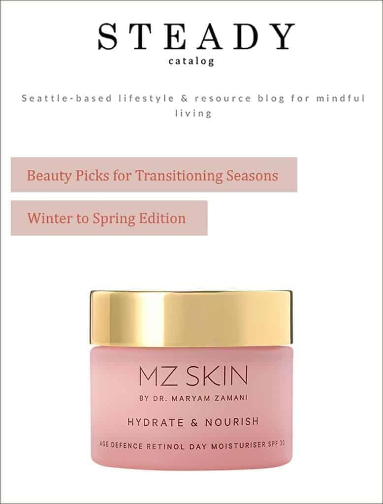 Steady Catalog featured MZ Skin Hydrate & Nourish