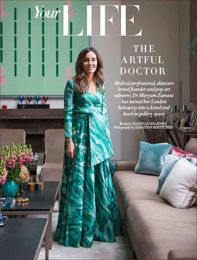 Founder of MZ Skin Featured in Harper's Bazaar Arabia - Key Player on the Cosmetics