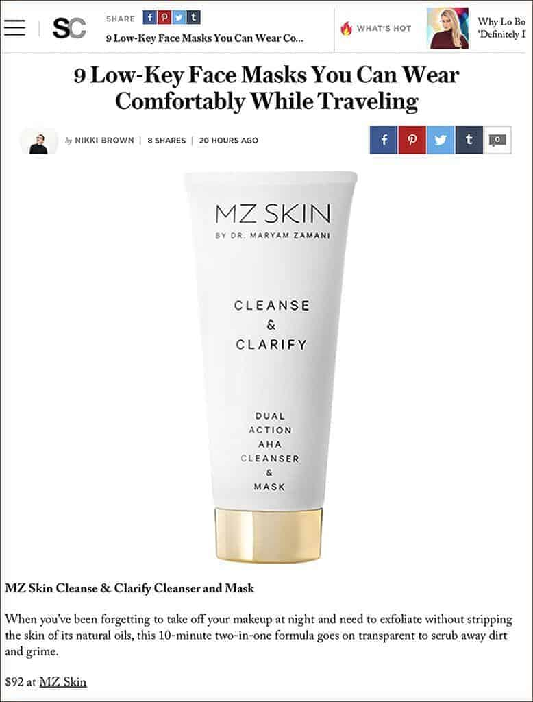 MZ Skin Cleanse & Clarify featured in Stylecater