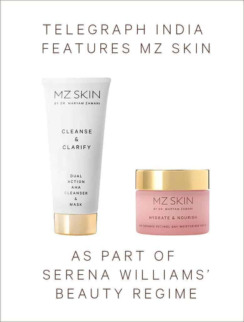 Telegraph India features MZ Skin