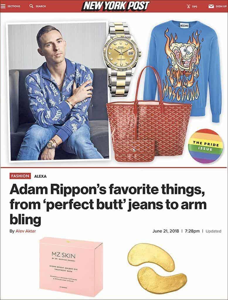 Golden Eye Treatment Mask among Olympian Adam Rippon's favourite things