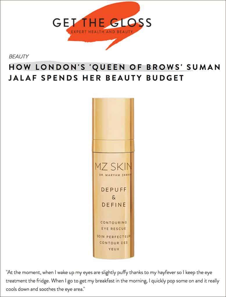 MZ Skin Featured in Get The Gloss