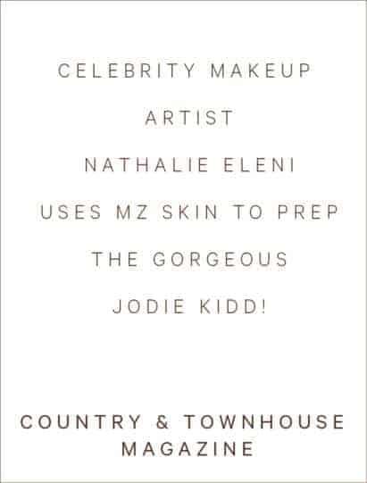 Nathalie Eleni uses MZ skin to prep Jodie Kidd!