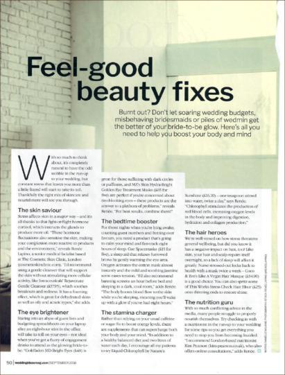 Wedding ideas Magazine recommends MZ skins Hydra bright eye masks as a feel-good beauty fix.Wedding ideas Magazine recommends MZ skins Hydra bright eye masks as a feel-good beauty fix.