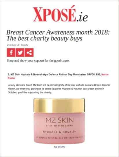 Xposé chooses MZ Skin Best Charity Beauty Buys