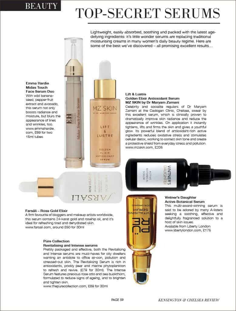 Lift and lustre featured in Kensington & Chelsea Review