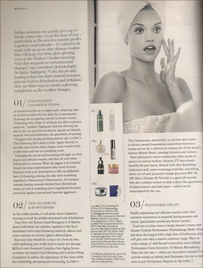 Hydrate and Nourish praised in Harrods Magazine