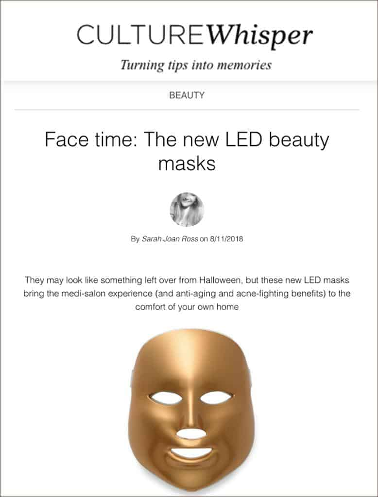 Light Therapy Golden Facial Treatment Device in Top 3