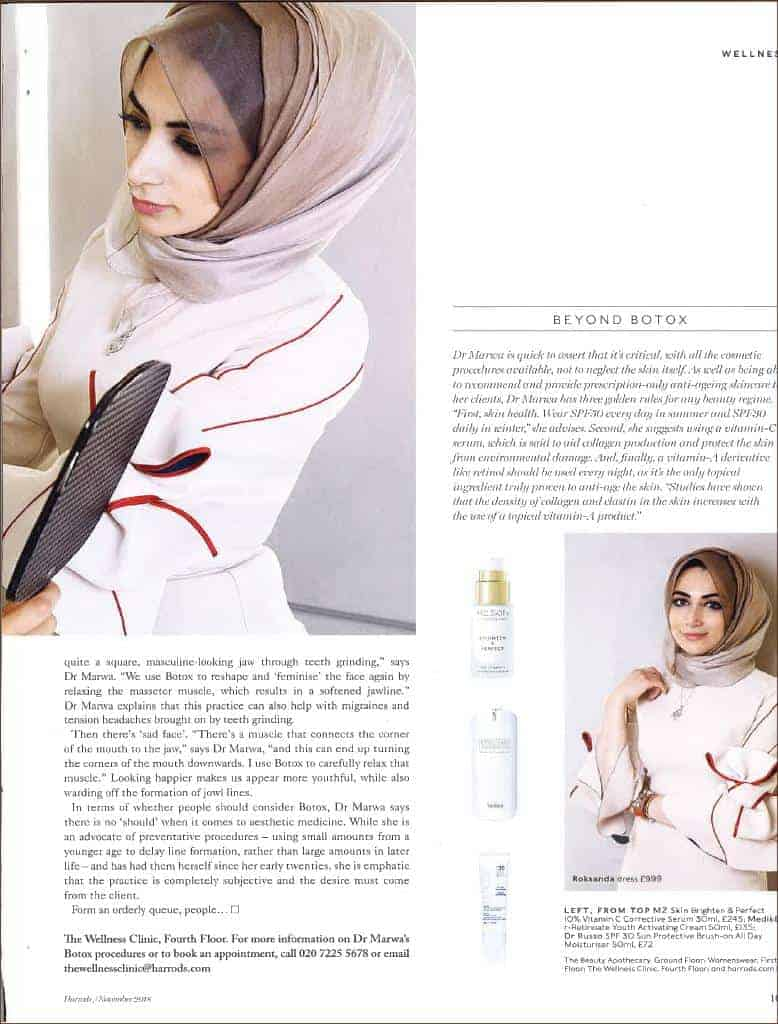 Brighten and Perfect is featured in Harrods Magazine