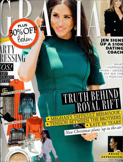 HYDRATE AND NOURISH IS FEATURED IN GRAZIA MAGAZINE