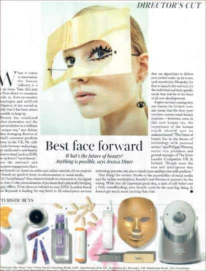 Light Therapy Golden Facial Treatment Device on Vogue Magazine