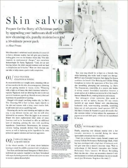 Hydrate & Nourish Featured in Harrods Magazine