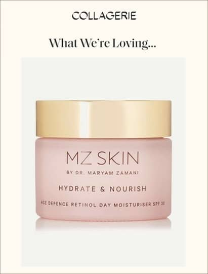 MZ Skin Hydrate & Nourish featured in Collagerie