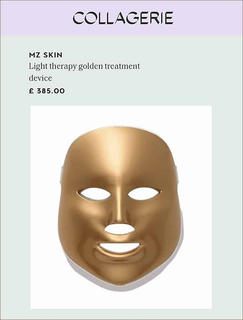 collagerie featured LED Mask