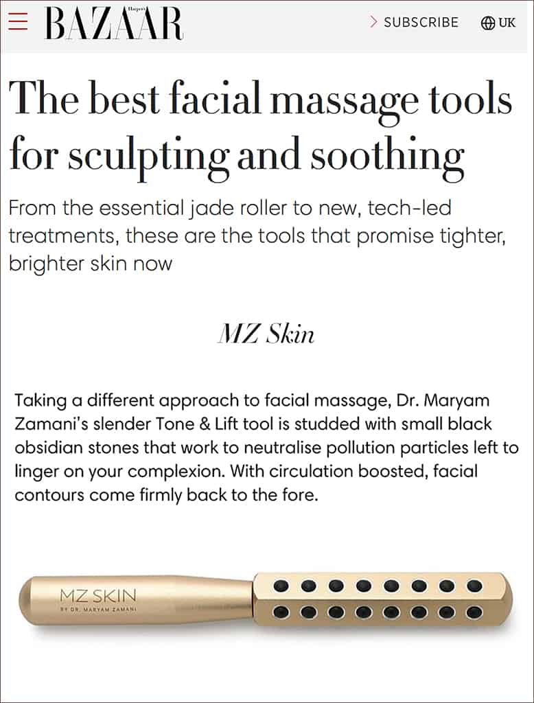 Harper's Bazaar features Tone & Lift