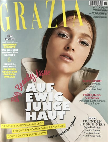 Grazia Germany Features Hydra-Lift Golden Facial Mask