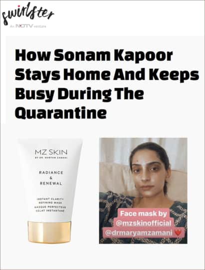 Sonam Kapoor Loves Radiance & Renewal