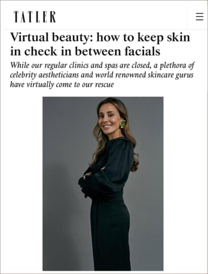 Tatler Features Dr Maryam Zamani