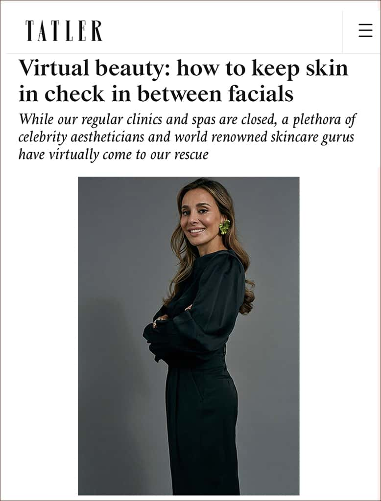 Tatler Features Dr Maryam Zamani