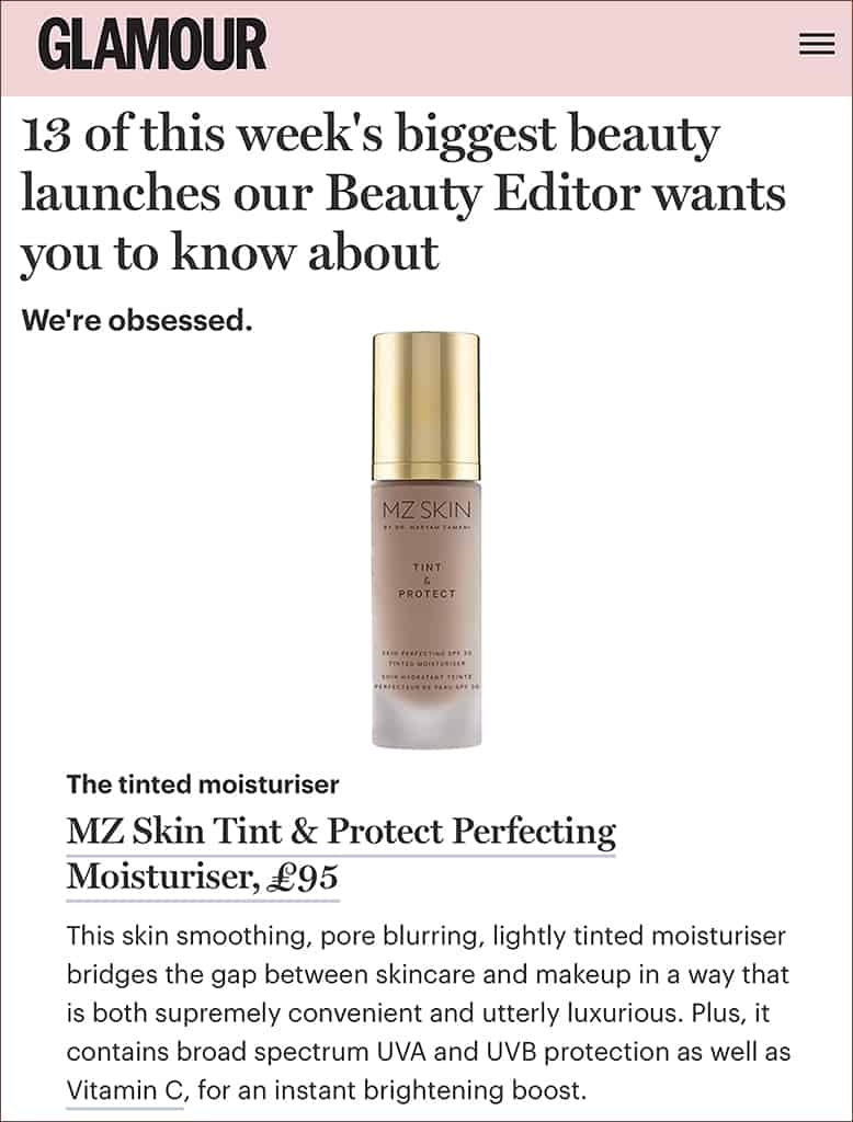 Glamour features Tint & Protect