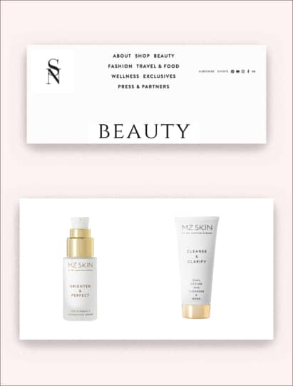 Sarah Nicollier's blog features Brighten & Perfect Serum and Clarify Cleanser