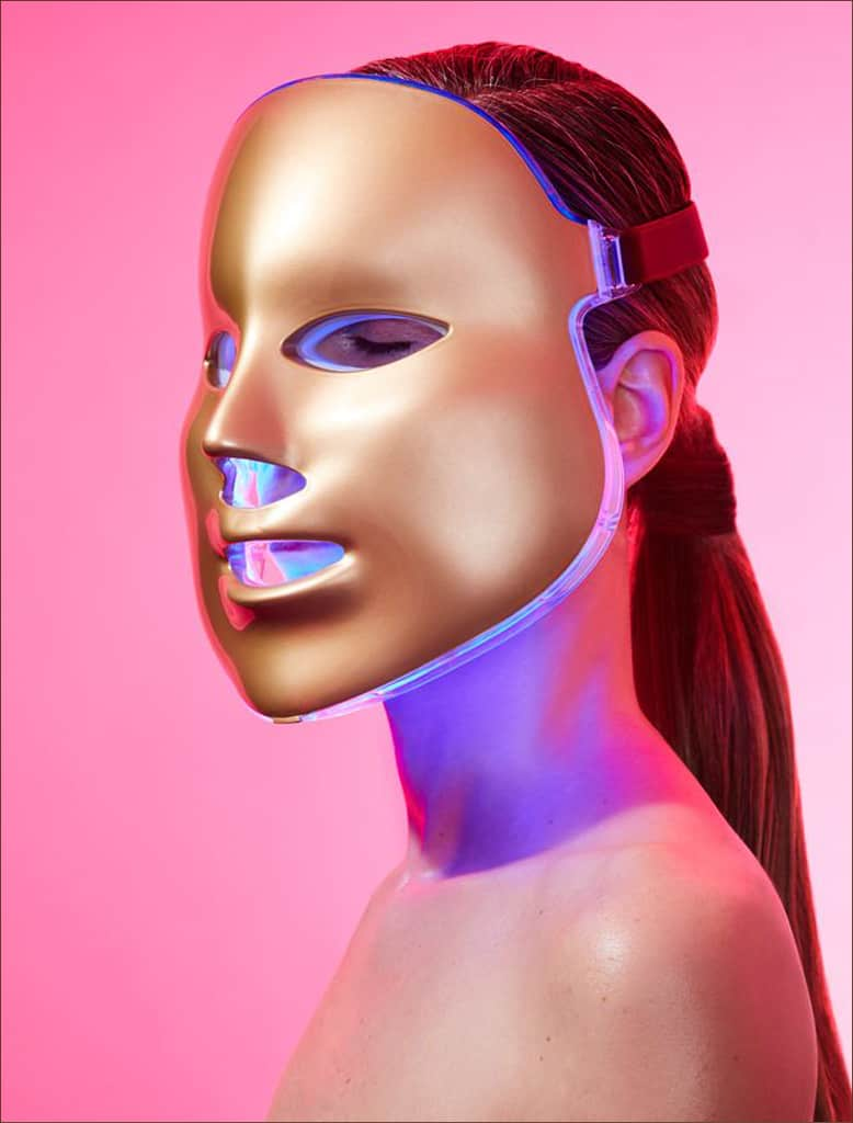 Light-Therapy Golden Facial Treatment Device