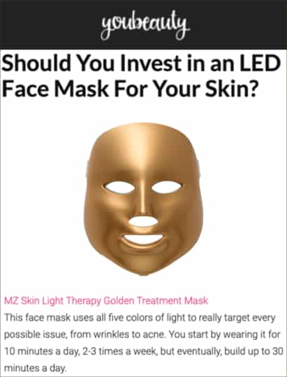YouBeauty features Light Therapy Facial Treatment Mask