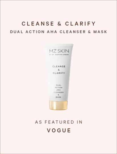 Vogue Hong Kong features Cleanse & Clarify AHA cleanser and mask