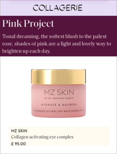 Collagerie features mz skin Nourish & hydrate retinol day moisturiser spf 30