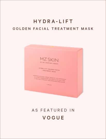 Vogue features mz skin hydra-lift facial treatment mask