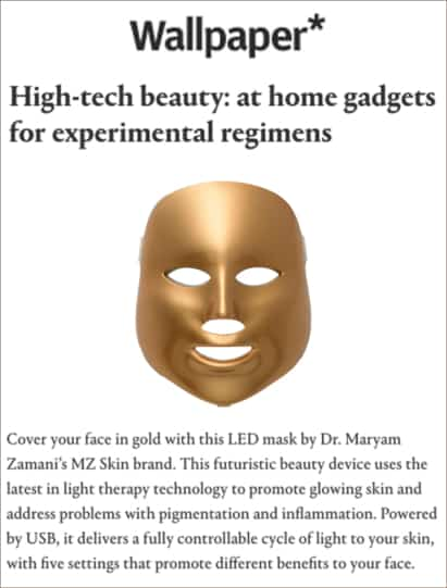 Wallpaper features MZ Skin LED mask