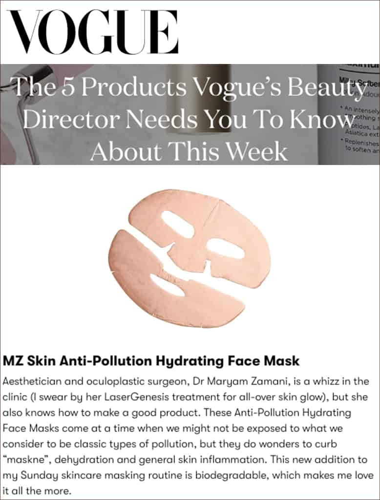 vogue press anti-pollution mask