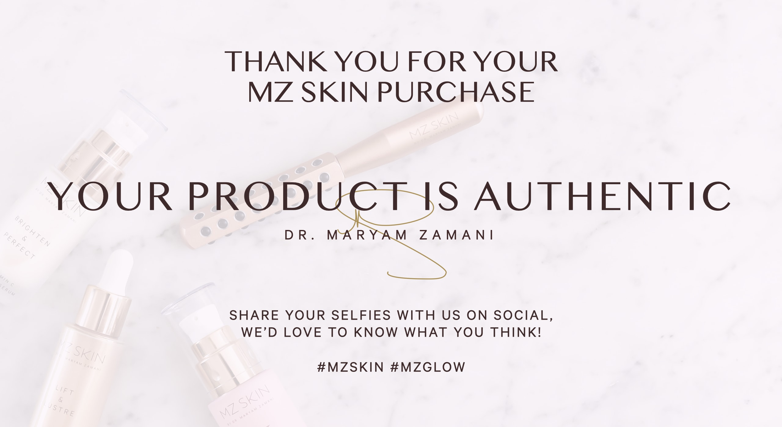 Your product is authentic